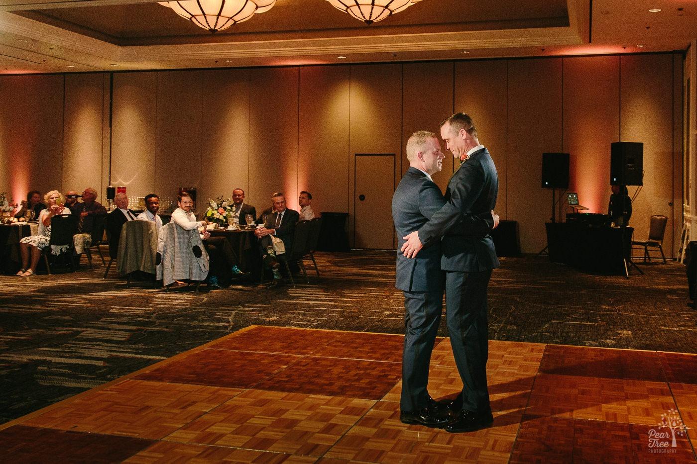 Grooms first dance inside Renaissance Concourse ballroom.