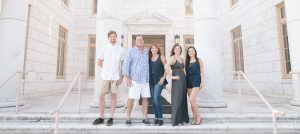 Seyden family in front of Canton courthouse